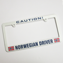 """Caution! Norwegian Driver"" License Plate Holder"