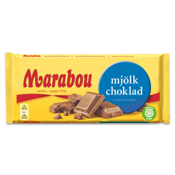 Marabou Milk Chocolate Bar, 100g