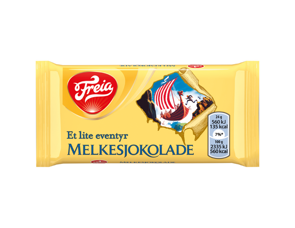 FREIA of Norway - Milk Chocolate Bar, 24g