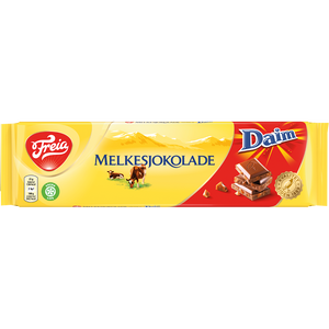 FREIA of Norway, Melkesjokolade with Daim (200g)