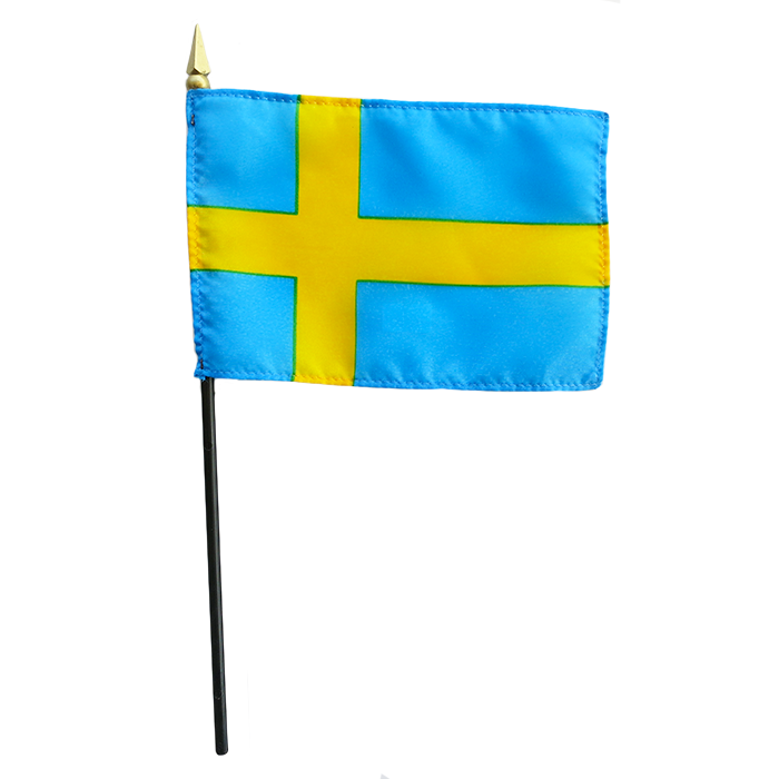 Swedish Mini Flag - 4x6""