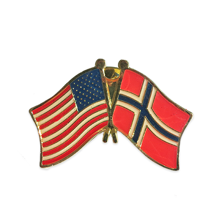 Friendship Lapel Pin - USA/Norway