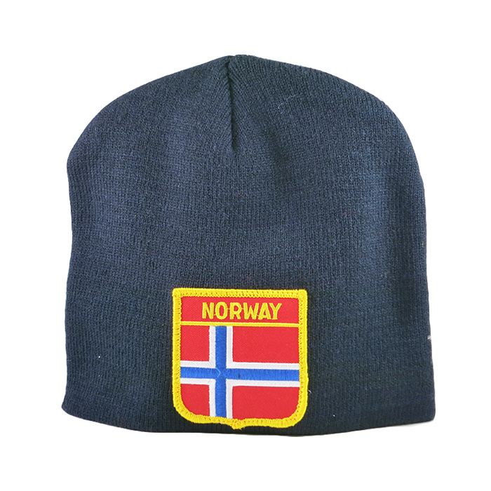 Knit Cap - Norway, Shield Patch