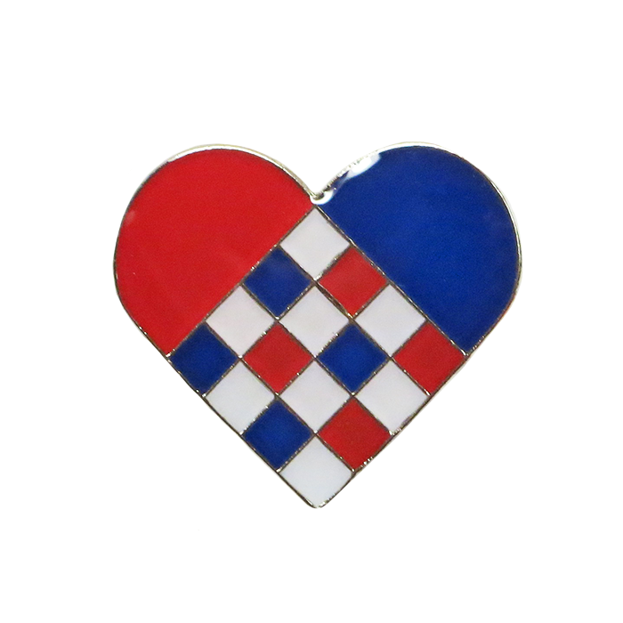 Norwegian Heart Lapel Pin