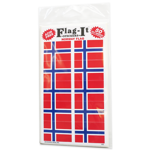 Norwegian Flag Sticker (50)