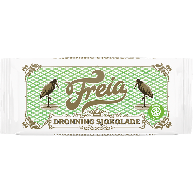 Freia Dronning Kokesjokolade, Queen Chocolate (3.5oz)