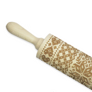 Engraved Knit Pattern Rolling Pin