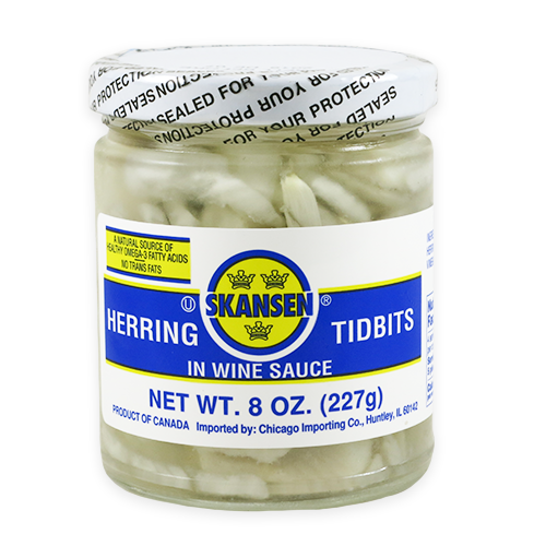 Herring Tidbits, in Wine Sauce