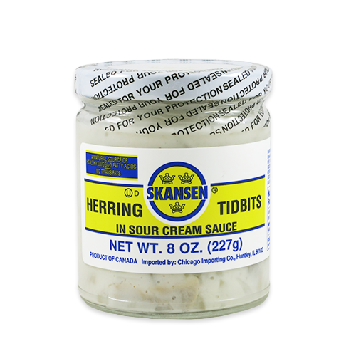 Herring Tidbits, in Sour Cream Sauce
