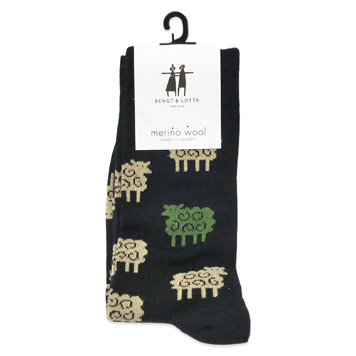 "B&L Socks ""Sheep, Black"""