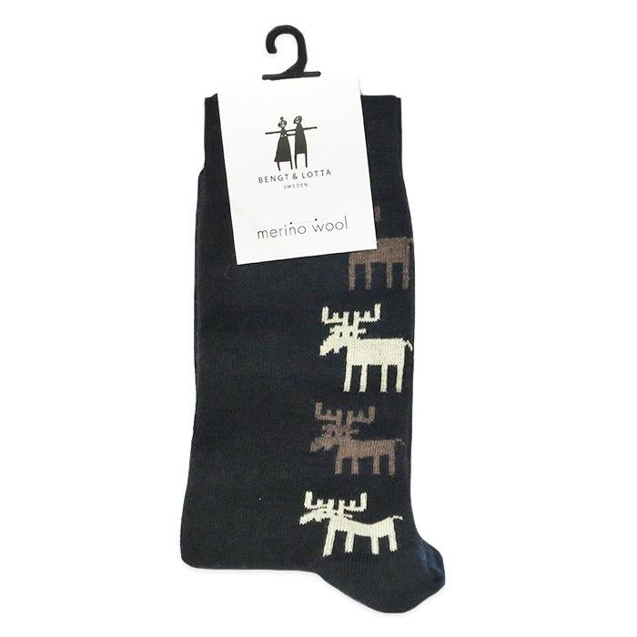 "B&L Socks ""Moose, Black"""