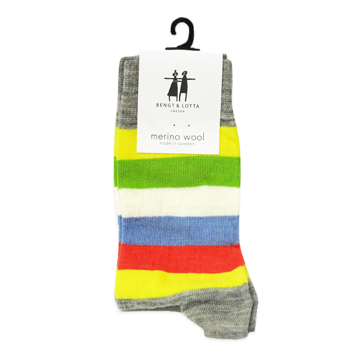 "B&L Socks ""Stripy, Gray"""