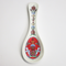 Porcelain Spoon Rest - Rosemaling Red