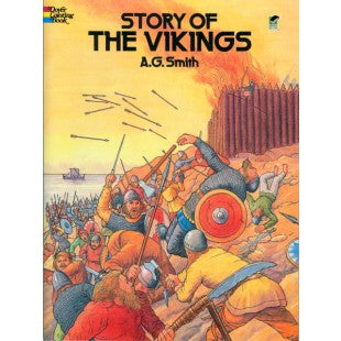 Story of the Vikings (coloring book)