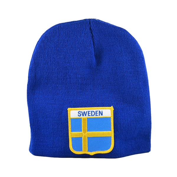 Knit Cap - Sweden, Shield Patch