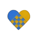 Swedish Heart Lapel Pin