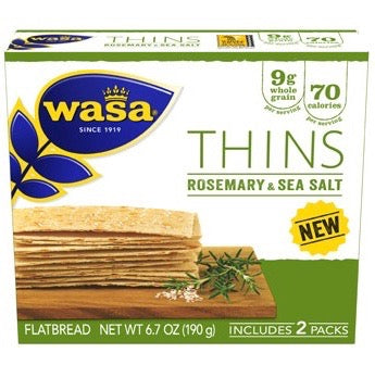 Wasa Thins - Rosemary & Sea Salt, 6.7 oz