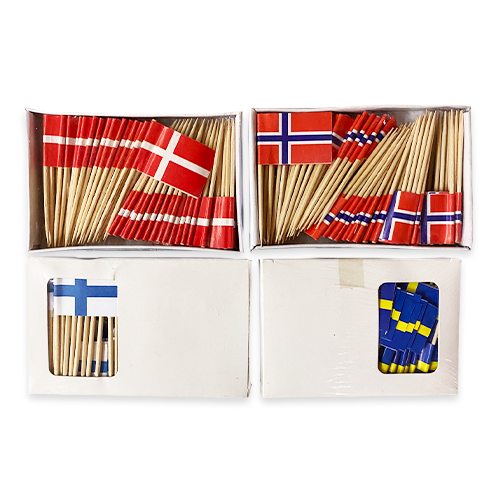 Nordic Flag Toothpicks