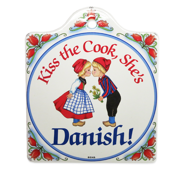"""Kiss the Cook, She's Danish!"" Cheese Board"