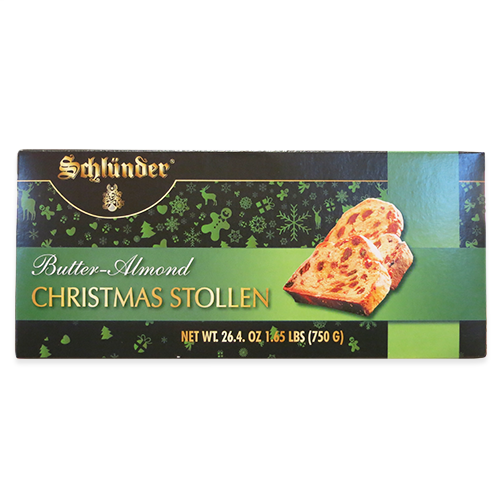 Butter Almonds Christmas Stollen