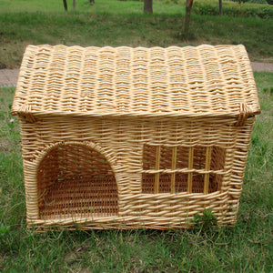 Phenomenal Pet House With Window Dog Beds For Small Dogs Large Medium Cat Rattan Kennel Wicker Dog Cat Sofa Bed Cooling Mat Breathable Home Andrewgaddart Wooden Chair Designs For Living Room Andrewgaddartcom