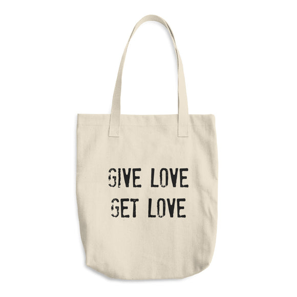 GIVE LOVE GET LOVE Cotton Tote Bag