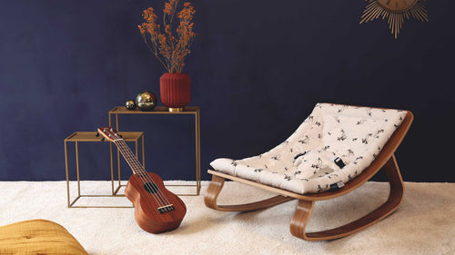 The New Charlie Crane Fawn Levo Rocker in Walnut