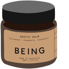 On our Charlie Crane Noga: BEING Bootie Balm