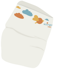 On our Charlie Crane Noga: Eco Originals Nappies