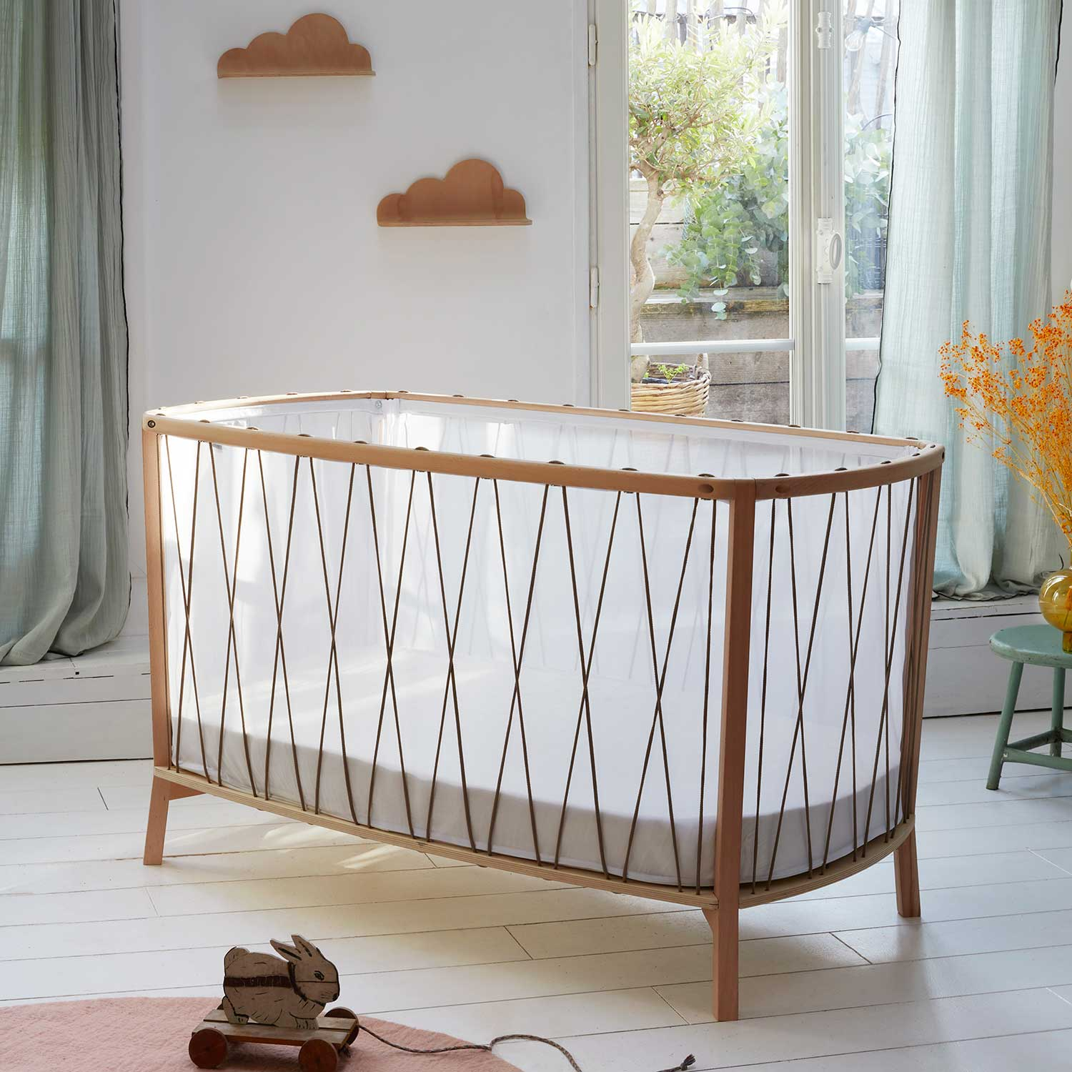 Charlie Crane Cot, the Kimi cot transforms as your baby grows