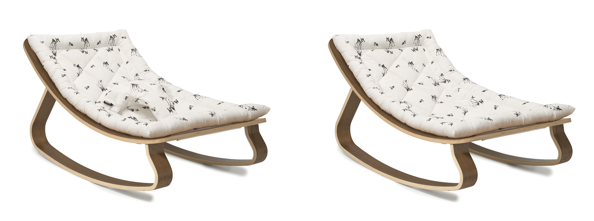 New Levo Rocker, Fawn Walnut, with and without harness