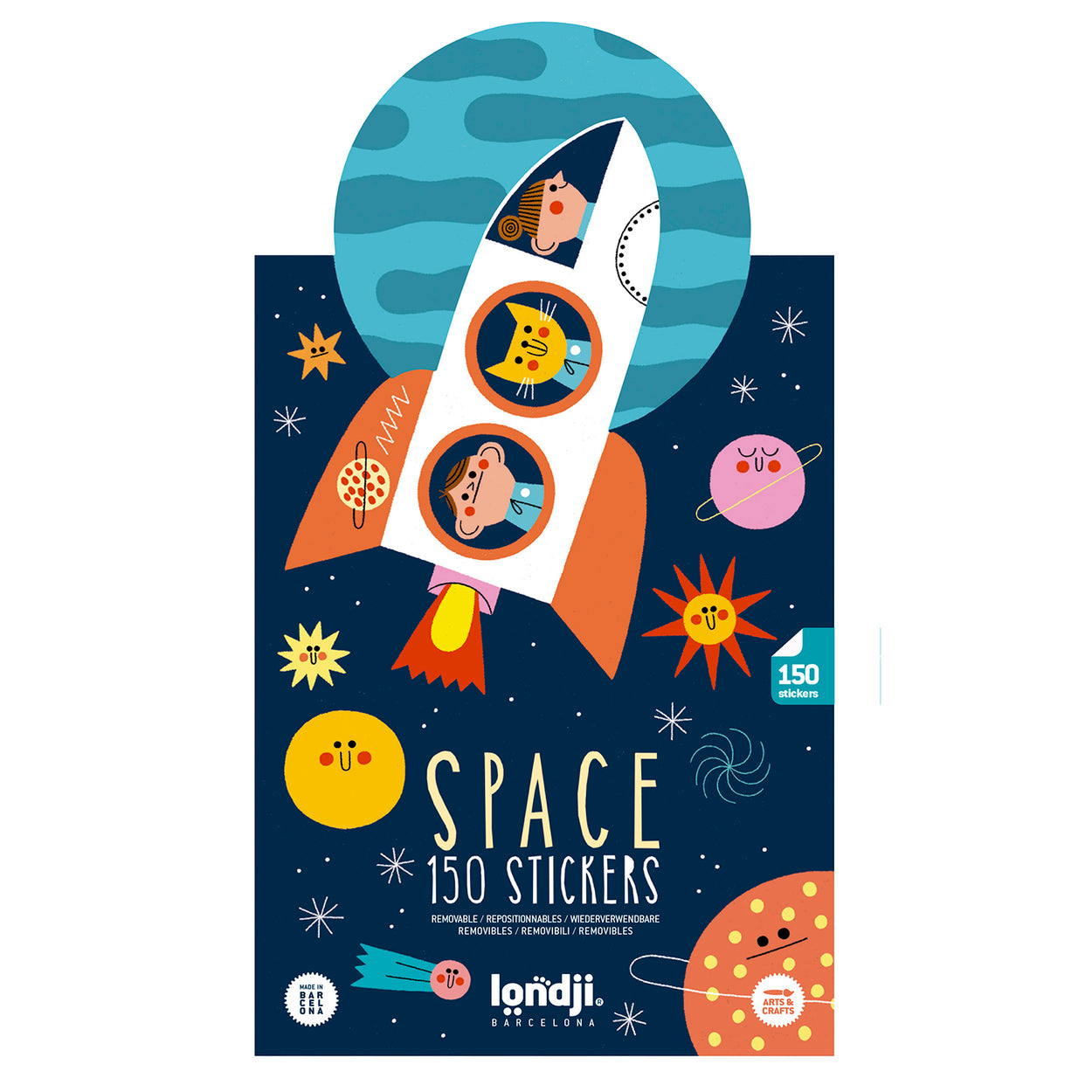 Space themed stickers for kids