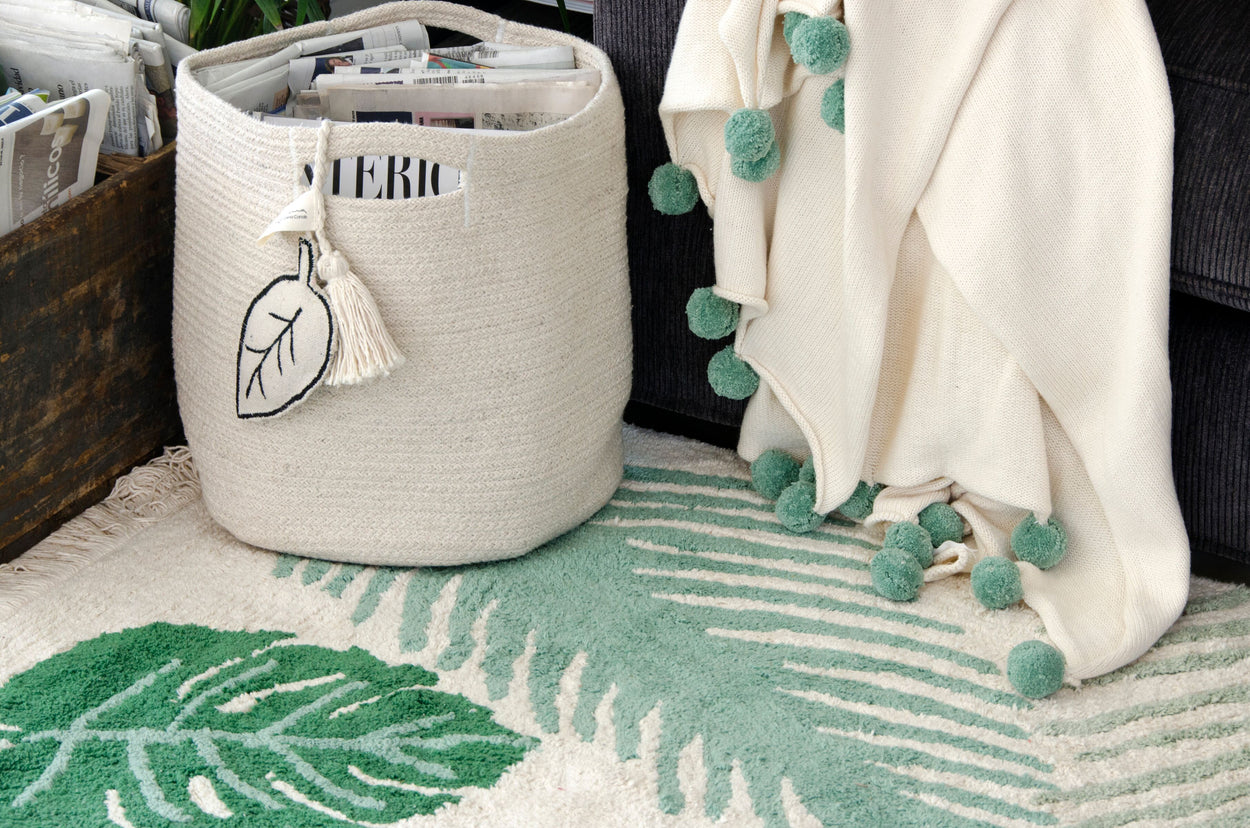 Lorena Canals Basket Leaf Natural