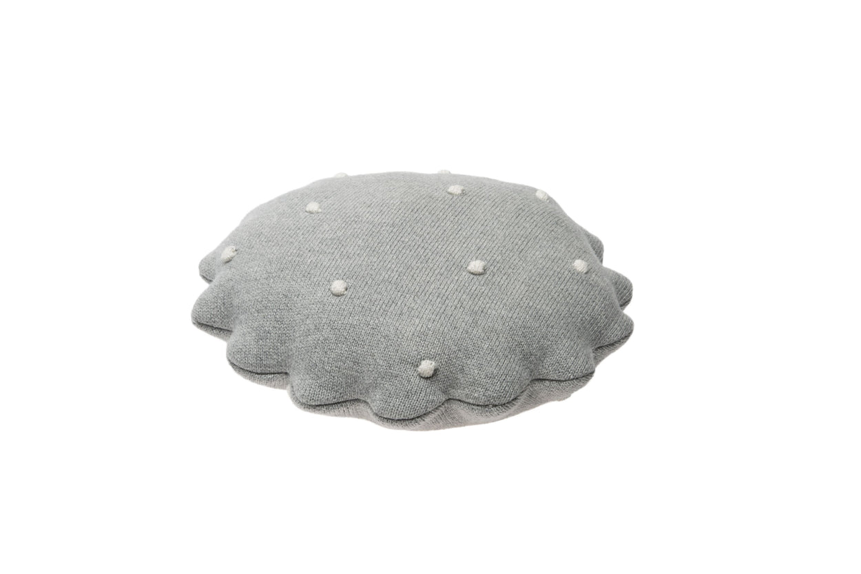 Lorena Canals Australia Knitted Cushion Biscuit Grey