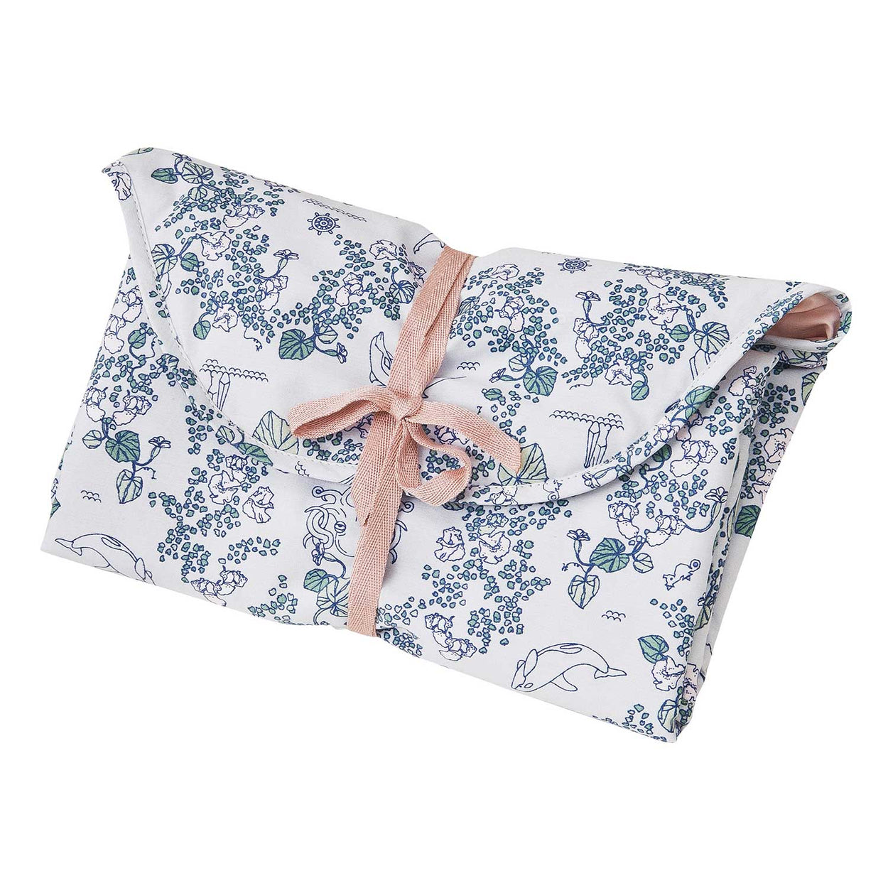 Envelope bag, folding changing mat by Garbo&Friends, in pink and grey