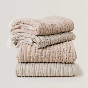 Garbo&Friends Mellow natural fibre blankets in Tawny and Lin