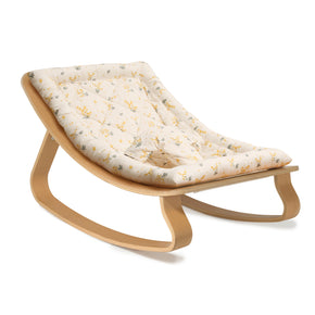 Charlie Crane Levo Baby Rocker in Beech with Mimosa Cushion