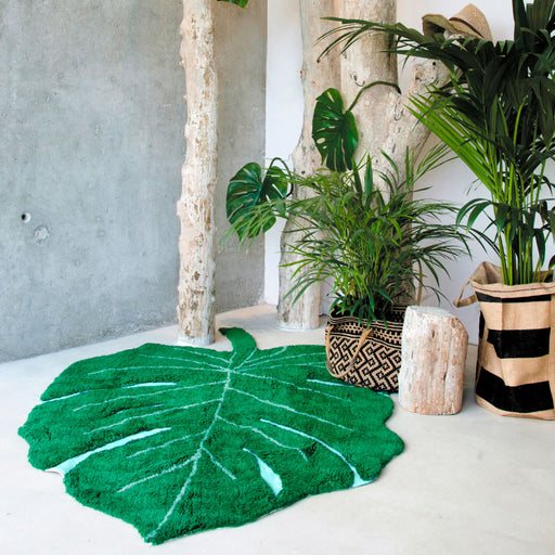 Lorena Canals Washable Rug Monstera Leaf