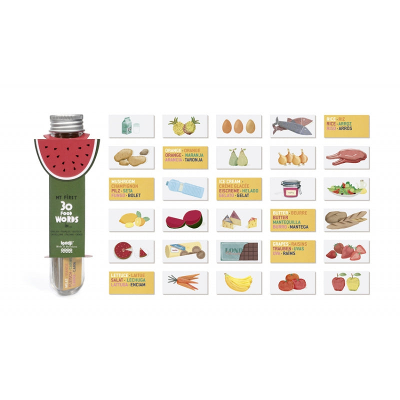 Londji Micro Puzzle Food Dictionary (Set 12)