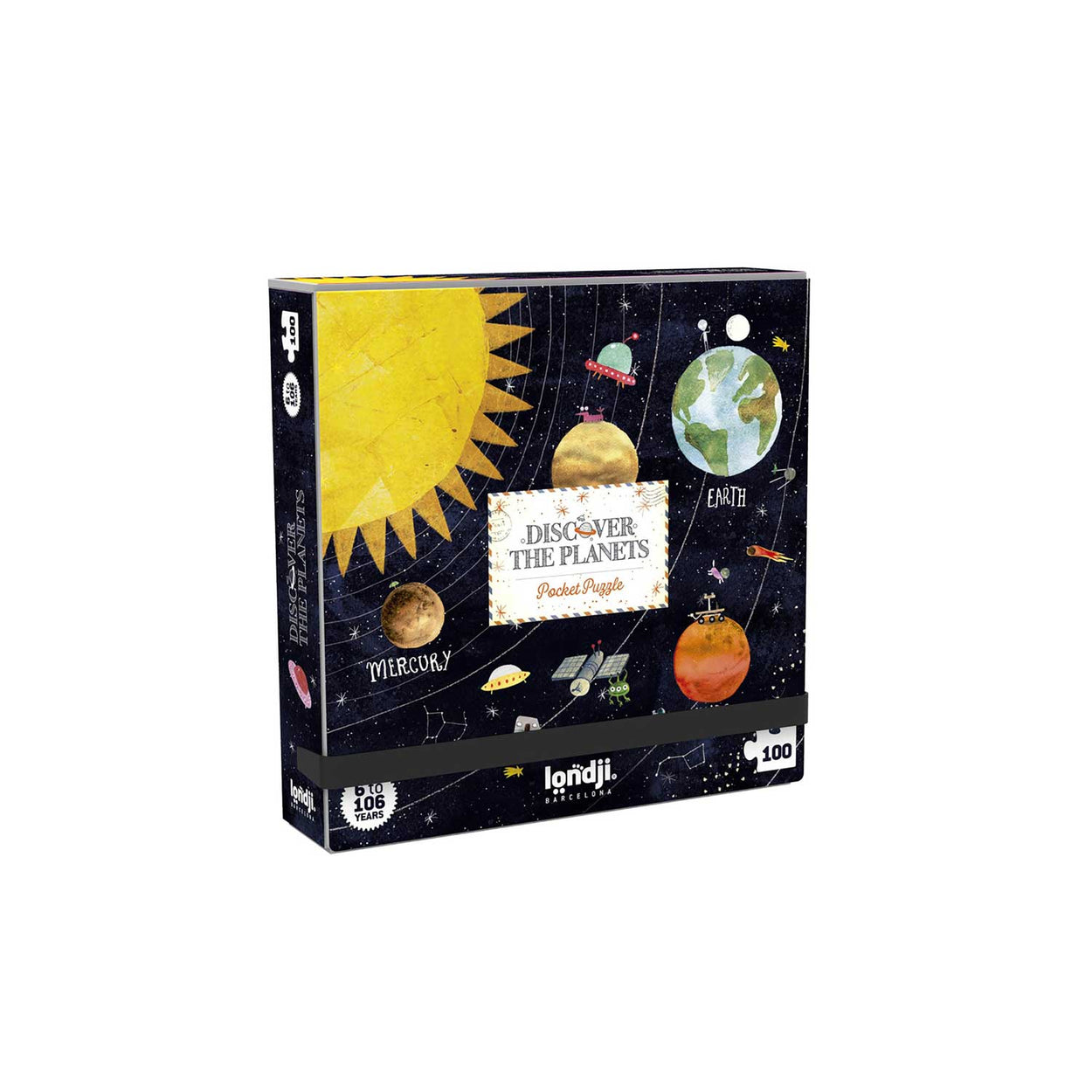 Discover the planets pocket puzzle by Londji