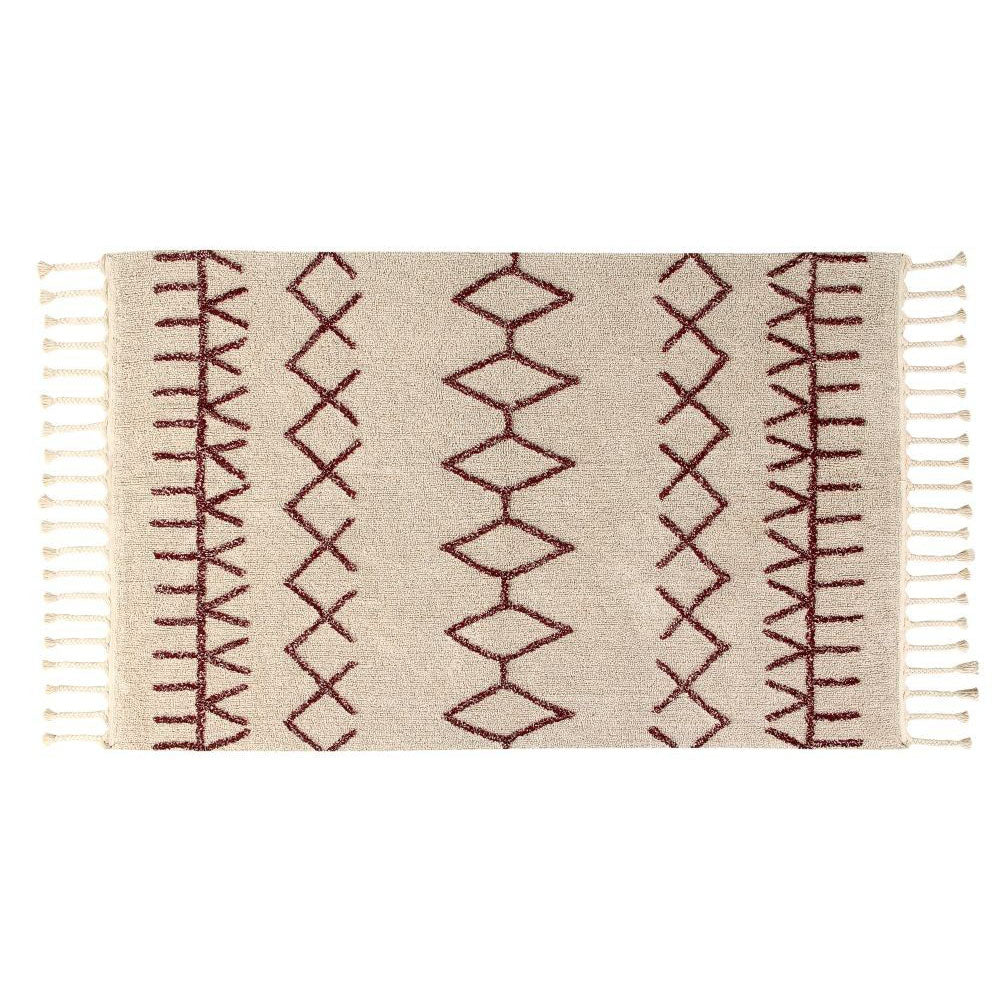 Lorena Canals Washable Rug Berber Burgundy