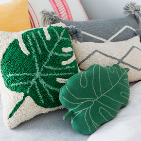 Lorena Canals Knitted Cushion Baby Leaf