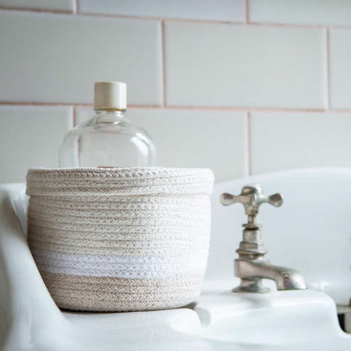 Lorena Canals Basket Mini Tricolor Ivory