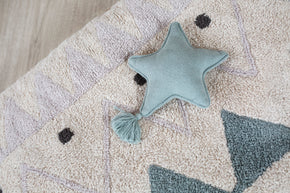 Lorena Canals Knitted Cushion Twinkle Star Indus Blue