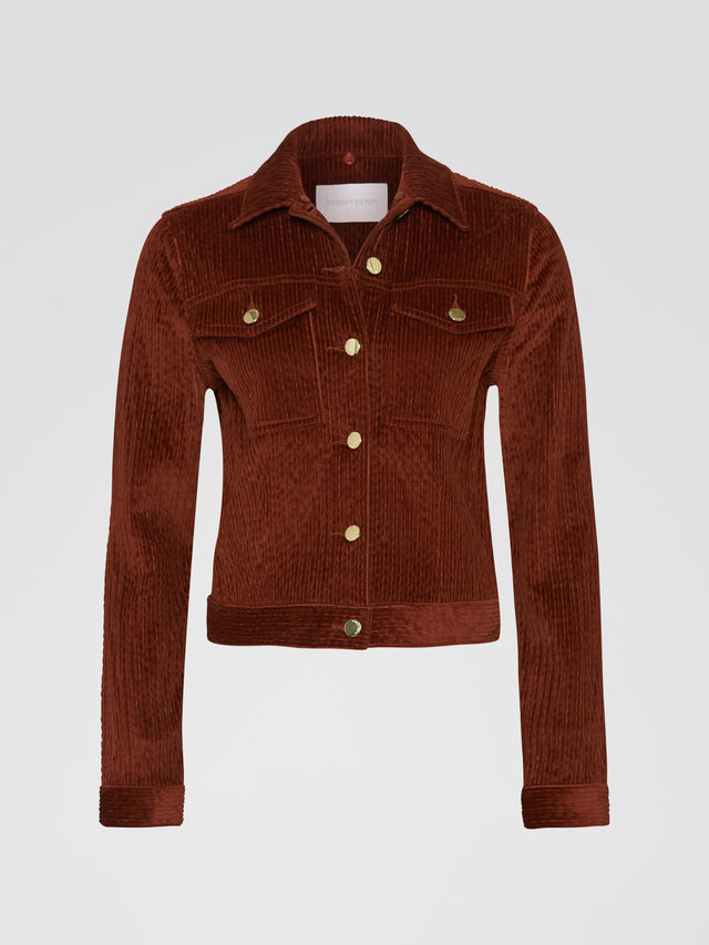 Poetic Jacket Cognac Cord