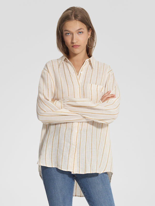 Roque Shirt Saffron Stripe