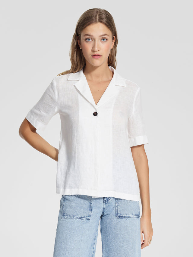 Gallery Shirt Linen White
