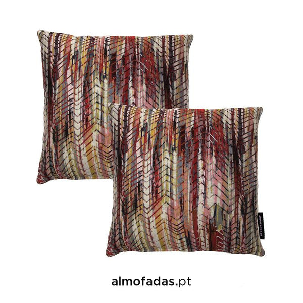 Pack 2X Almofadas Bohemian Hot Cherry Gold