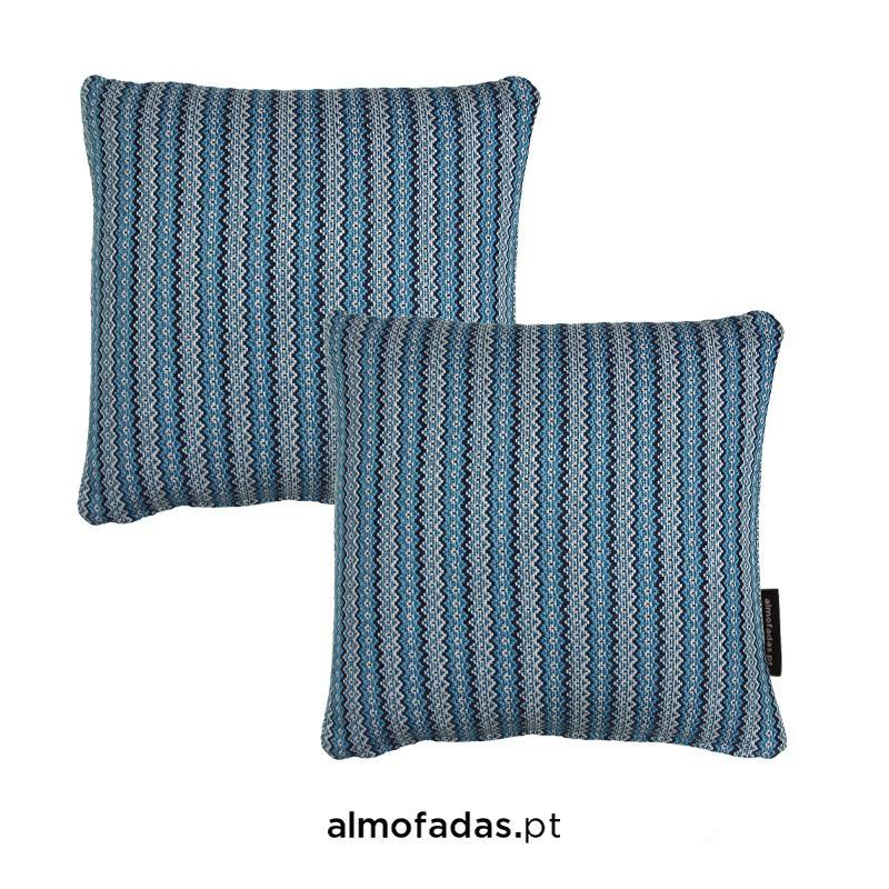 Pack 2X Almofadas Carvalhal Cyanoype Blue