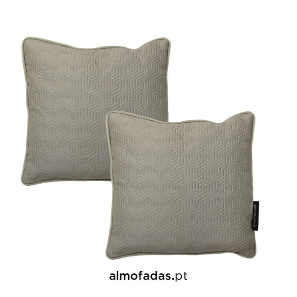 Pack 2X Almofadas Time Silver Marble Shades